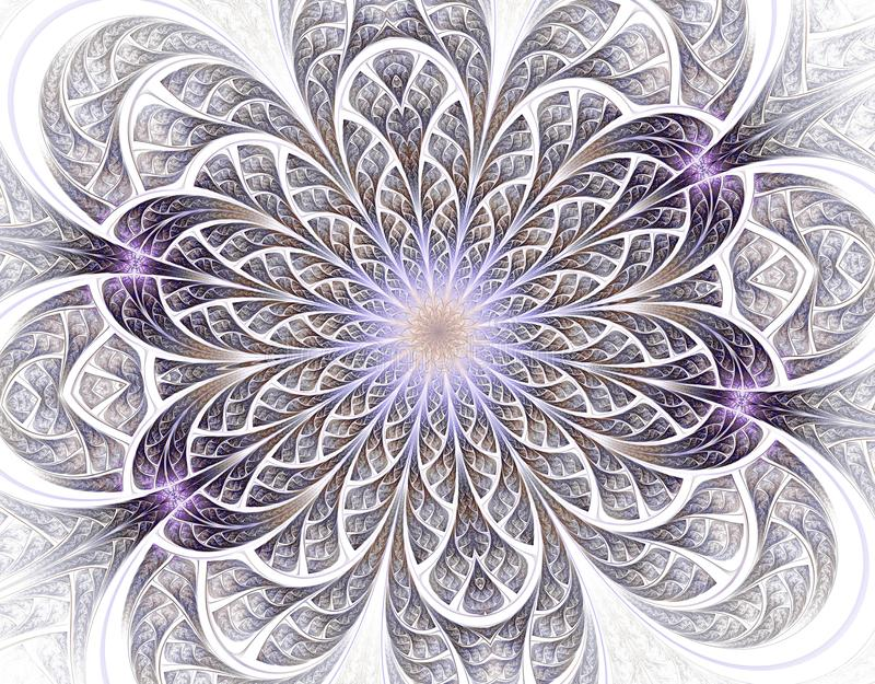 Zachte en lichte Mooie fractal bloem vector illustratie