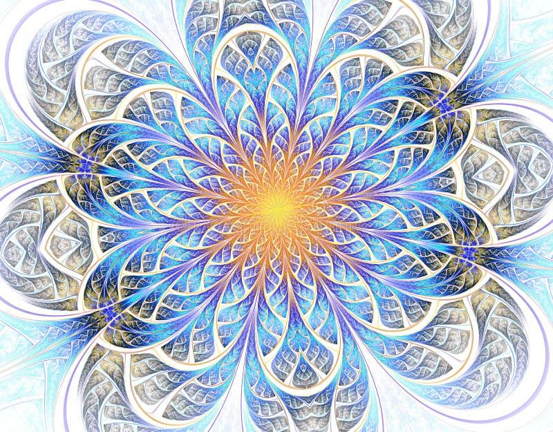 Zachte en lichte Mooie fractal bloem royalty-vrije illustratie