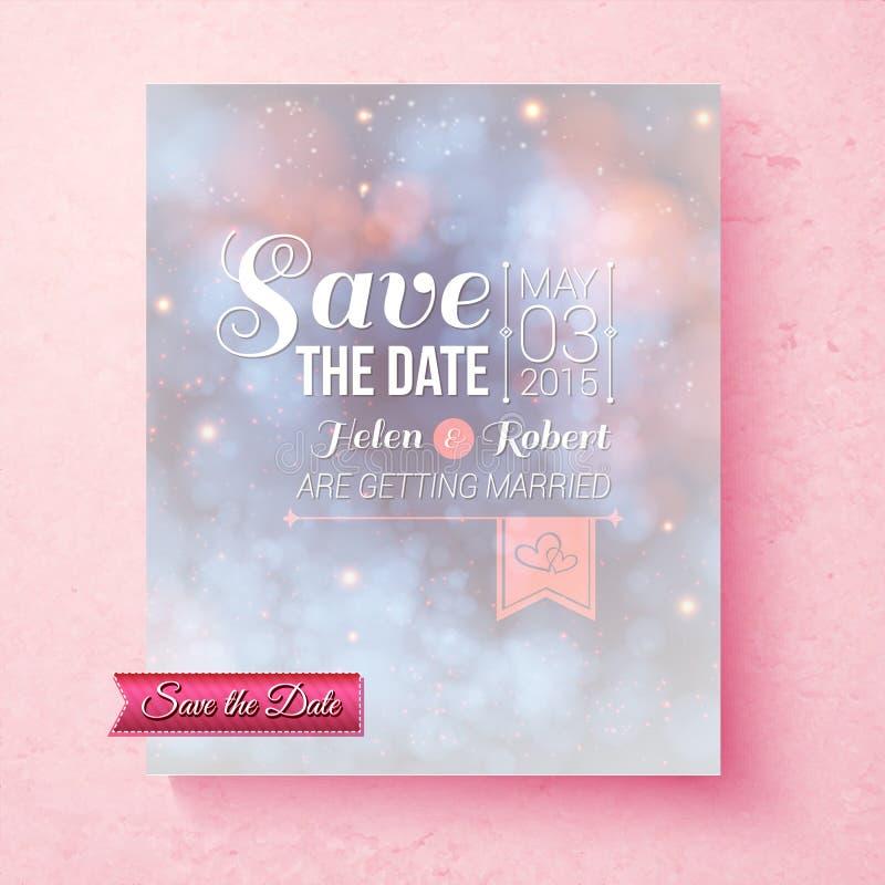 Zachte etherisch sparen het malplaatje van het Datumhuwelijk stock illustratie
