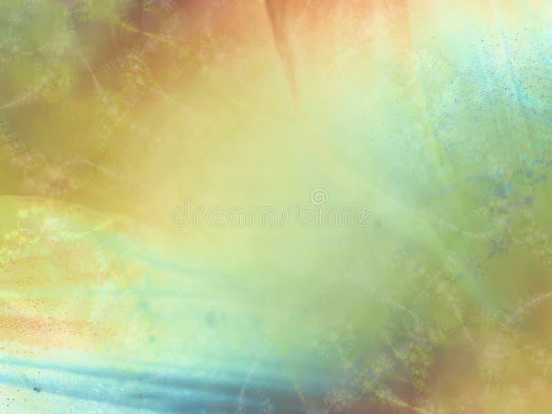 Zachte Gouden Groenachtig blauwe Textuur royalty-vrije illustratie