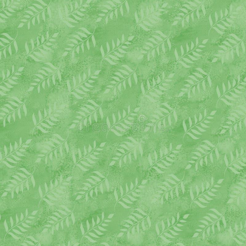 Zachte groene bladeren op verse groene achtergrond vector illustratie
