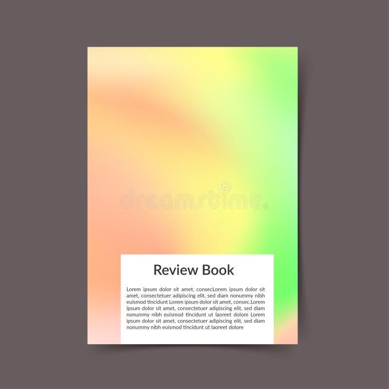 Zachte groene en roze heldere moderne het boekdekking van de kleurenharmonie royalty-vrije illustratie