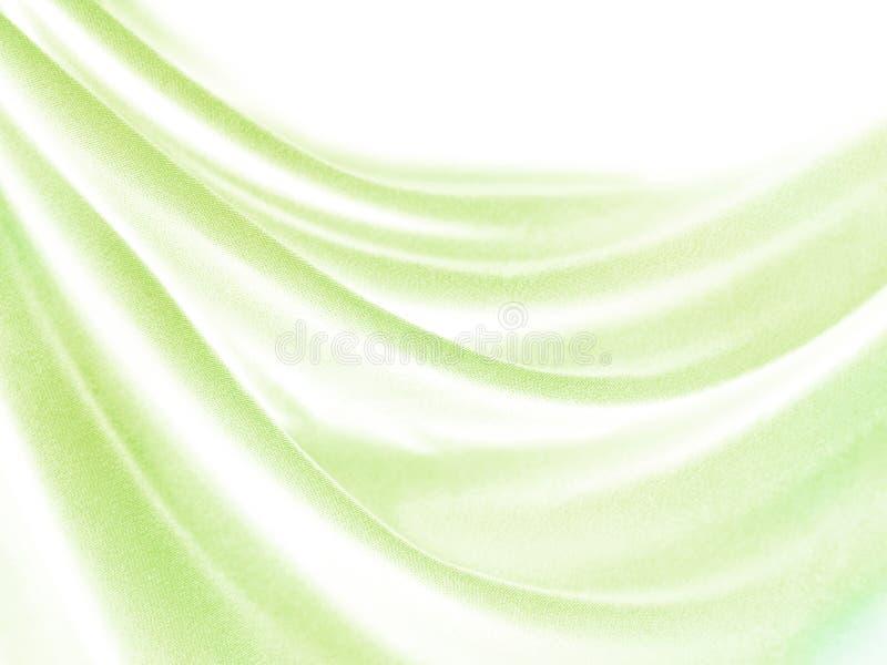 Zachte groene stoffentextuur stock afbeelding