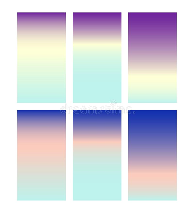 Zachte kleurenachtergrond In gradiëntmonsters royalty-vrije illustratie