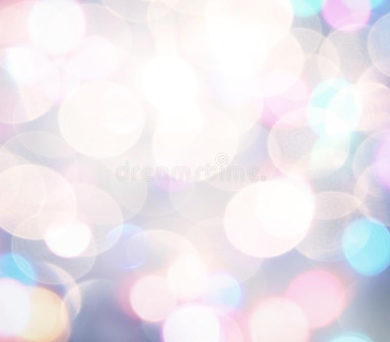 Zachte kleurrijke bokehachtergrond De achtergrond van Kerstmis stock foto's