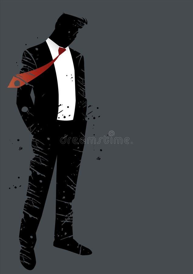 Zachte mens in kostuum stock illustratie