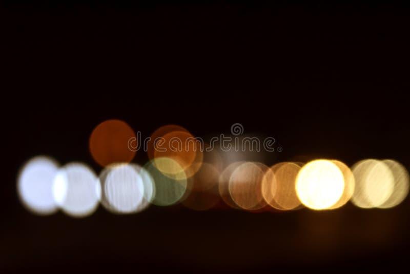 Zachte nadruk, kleurrijke bokehachtergrond stock foto