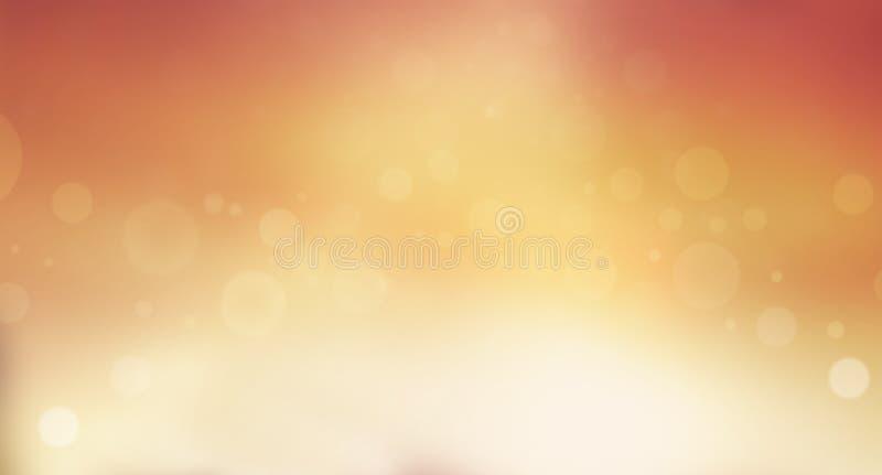 Zachte oranje en gele onscherpe achtergrond met bokeheffect stock foto's
