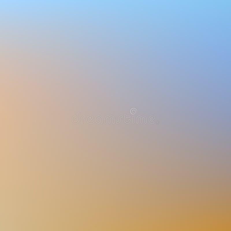 Zachte pastelkleurblauw als achtergrond en perzikovergang van koude om te verwarmen stock illustratie