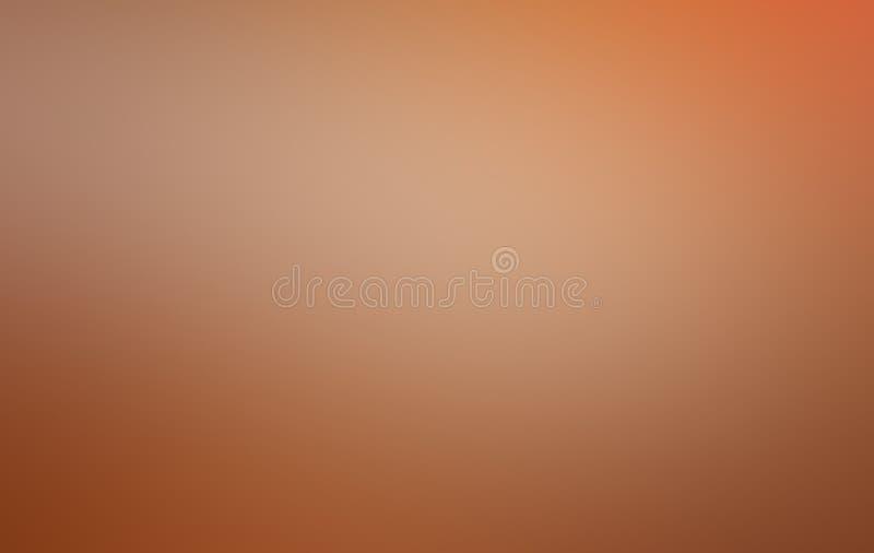 Zachte perzikachtergrond Oranje gradiënt vage pastelkleur stock foto