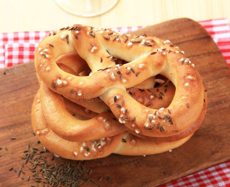 Zachte pretzels royalty-vrije stock afbeelding