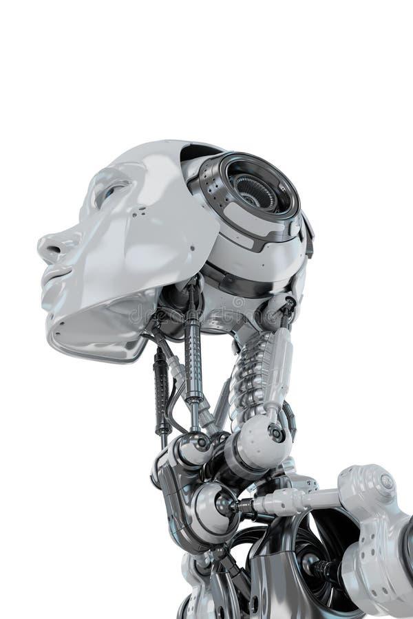 Zachte robotachtige vrouw stock afbeeldingen
