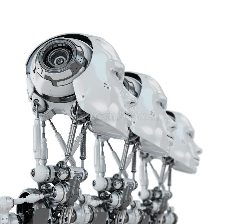Zachte robotachtige vrouwen royalty-vrije stock afbeelding