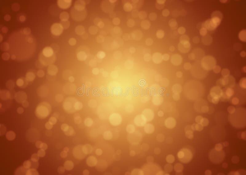 Zachte rood-Gouden Abstracte bokehachtergrond stock illustratie