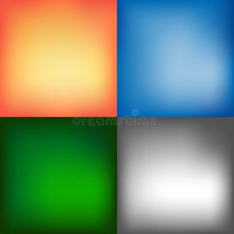 Zachte vage kleurenachtergronden - vectorreeks netwerk royalty-vrije illustratie