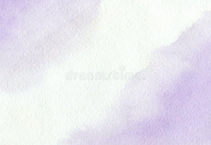 Zachte violette die achtergrond met de hand met waterverf wordt geschilderd stock fotografie