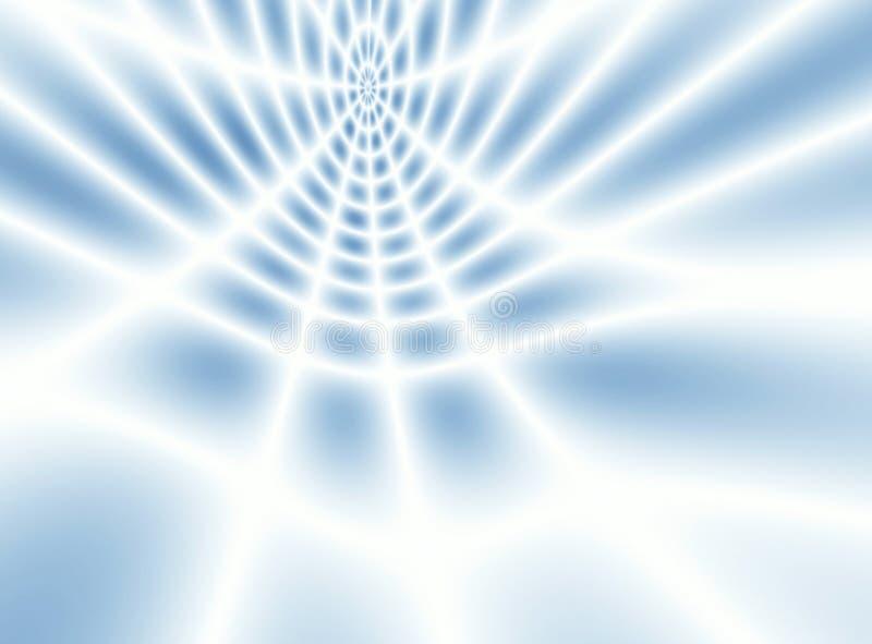 Zachte witte & blauwe netto abstractie stock illustratie