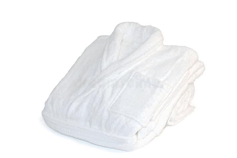 Zachte witte badjas royalty-vrije stock afbeeldingen