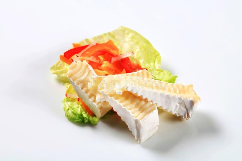 Zachte witte kaas stock afbeelding