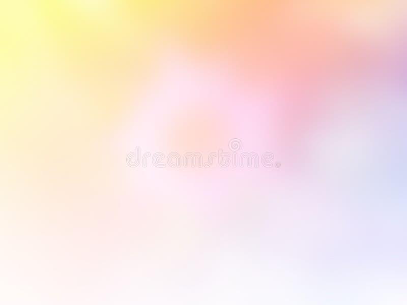 Zachte zoete vage pastelkleurachtergrond Het abstracte behang van de gradiëntdesktop stock fotografie