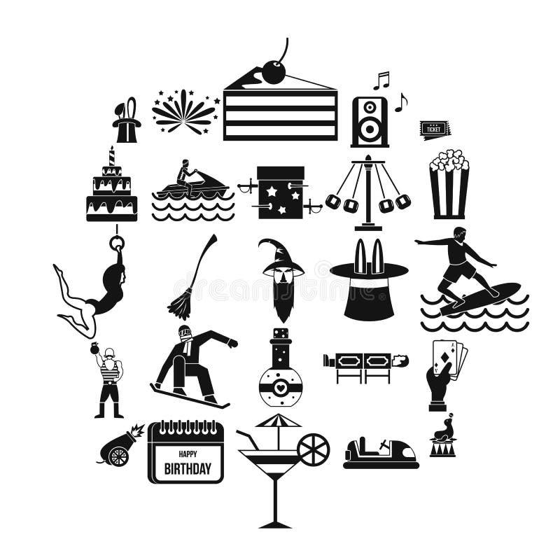 Zachwyt ikony ustawiać, prosty styl ilustracja wektor