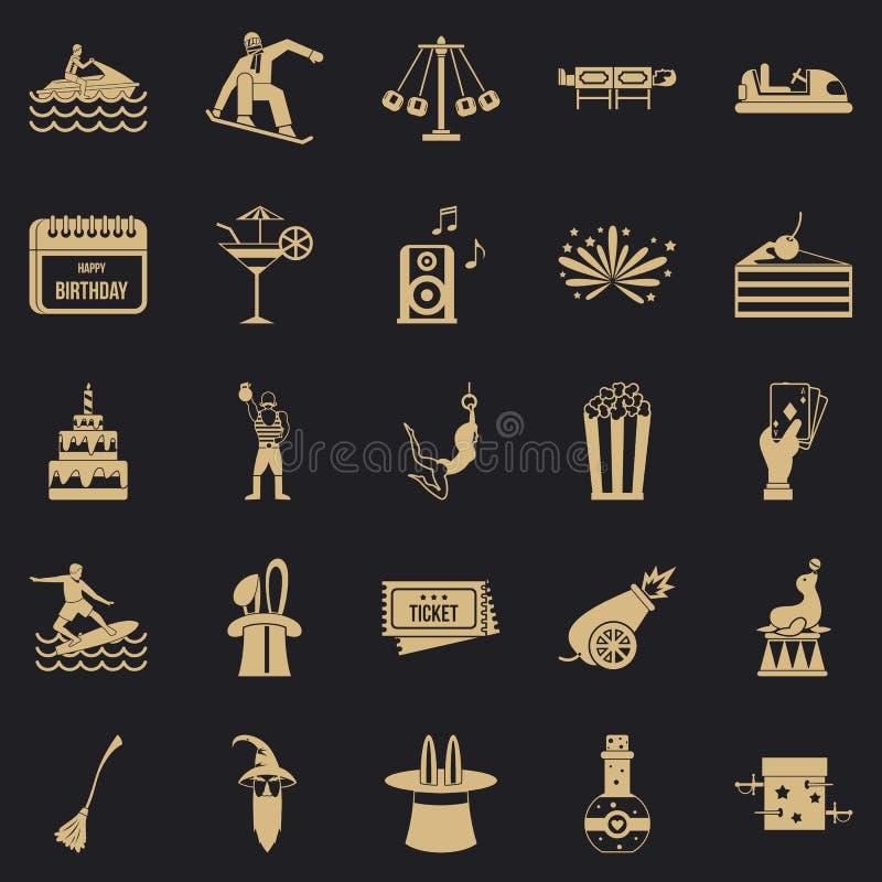 Zachwyt ikony ustawiać, prosty styl ilustracji