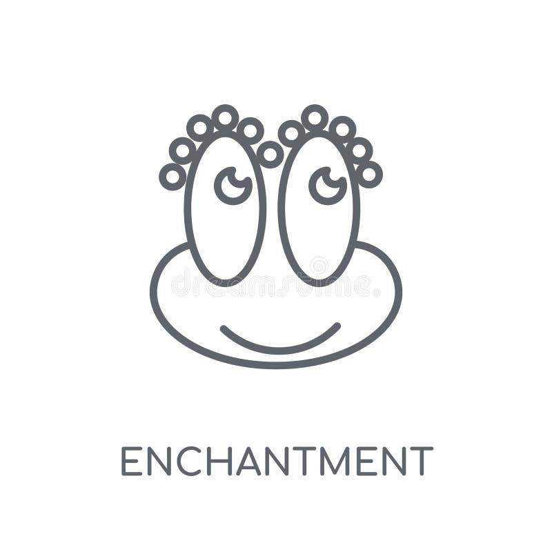 zachwyt liniowa ikona Nowożytny konturu zachwyta logo pojęcie royalty ilustracja