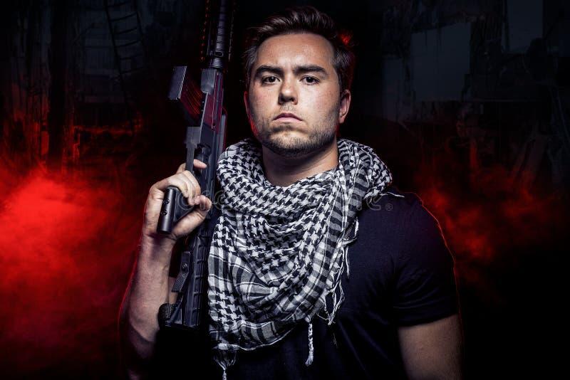 Zaciężny żołnierz od Intymnego Wojskowy Firma obrazy stock