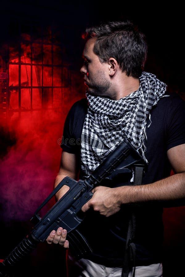 Zaciężny żołnierz od Intymnego Wojskowy Firma zdjęcie stock