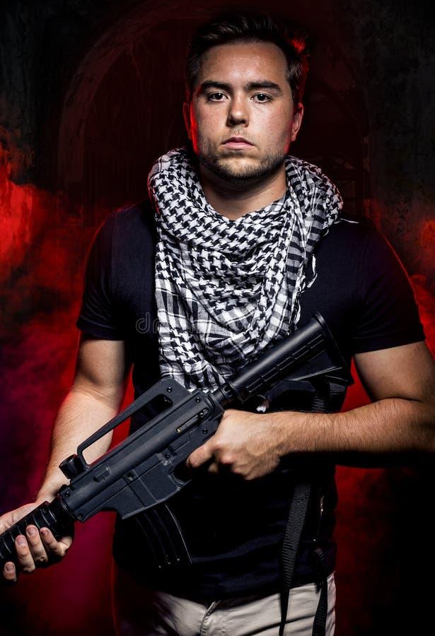 Zaciężny żołnierz od Intymnego Wojskowy Firma fotografia royalty free