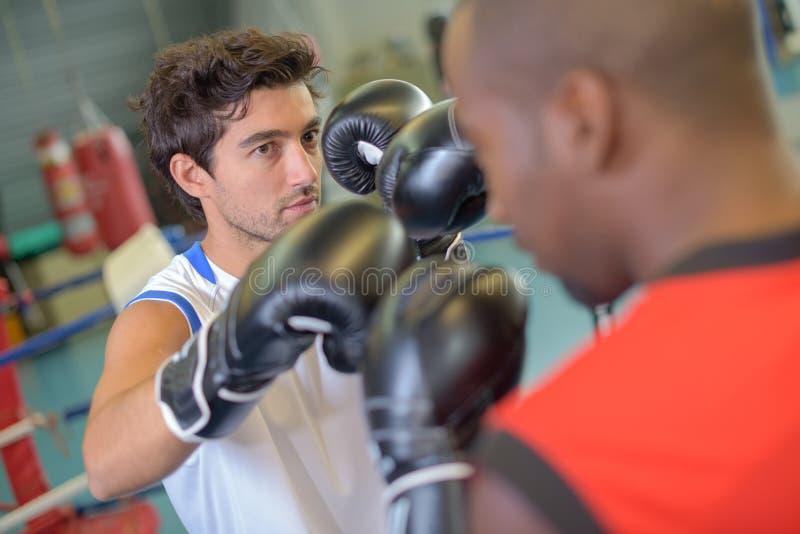 Zacierać się ćwiczy w gym zdjęcie royalty free