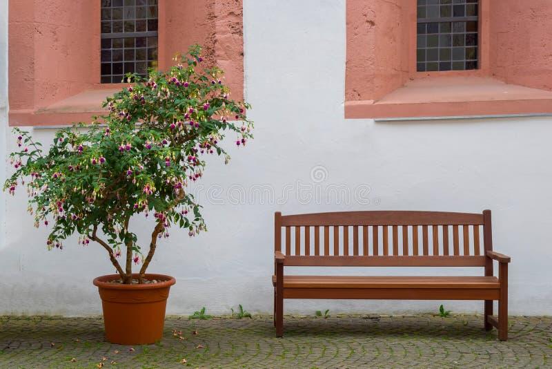 Zaciszność kąt przy Eberbach monasterem zdjęcie stock