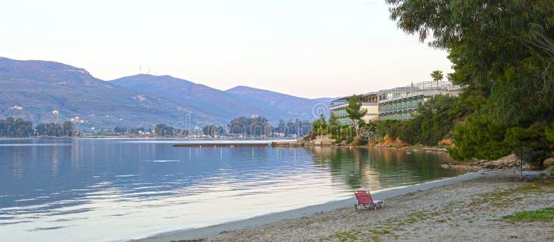 Zaciszność nadmorski i plaży hotel zdjęcia stock