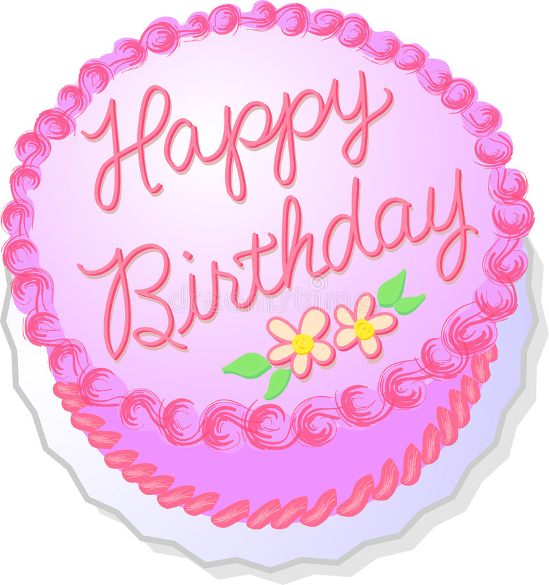 Zacken Sie Geburtstag-Kuchen aus lizenzfreie abbildung