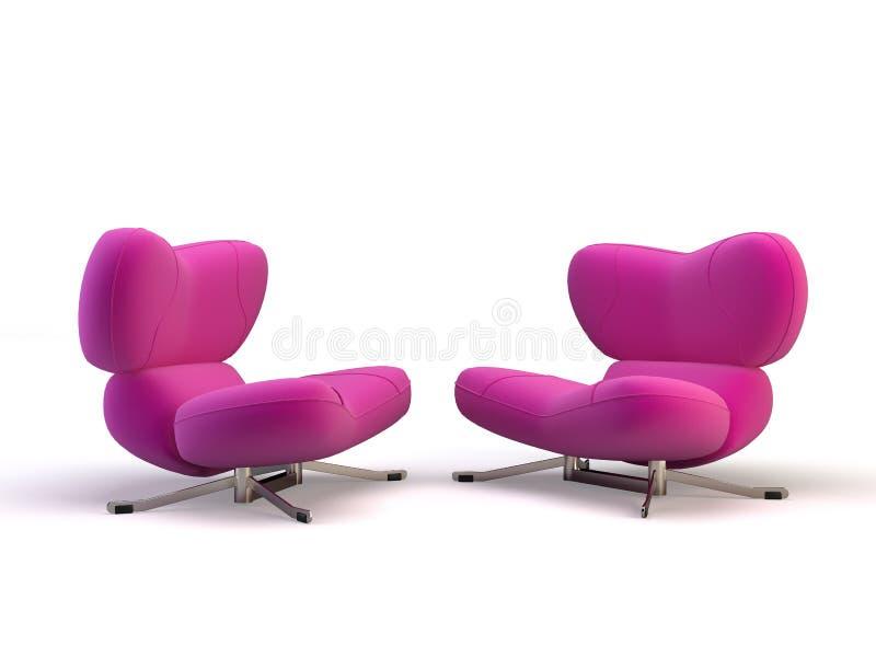 Zacken Sie Stühle aus stock abbildung