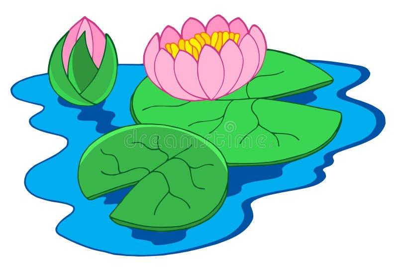 Zacken Sie Wasserlilien aus stock abbildung
