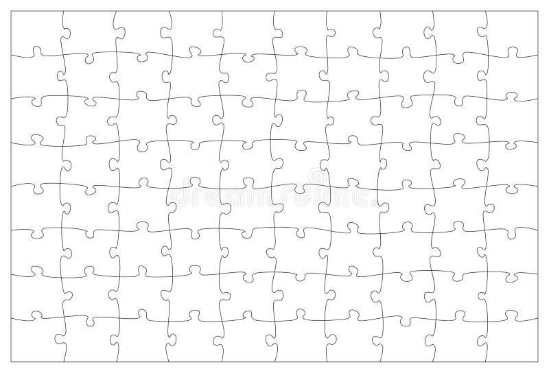Zackige Schablone des Puzzlespiels vektor abbildung