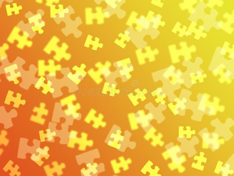 Zackige Stücke auf einer orange Steigung vektor abbildung