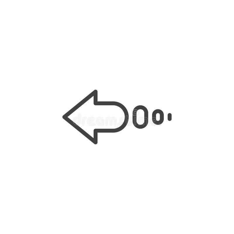 Zacofana strzały linii ikona royalty ilustracja