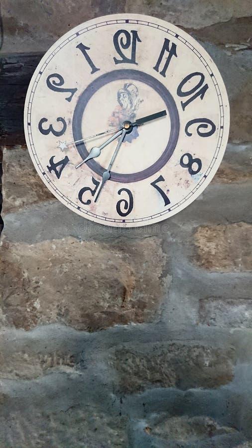 Zacofany Ścienny zegar Czas maszyna zdjęcia stock
