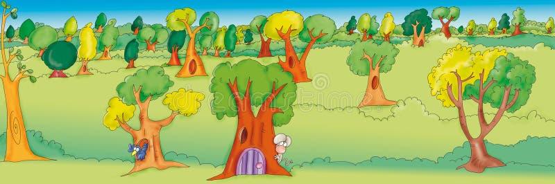 zaczarowanego lasu ilustracji