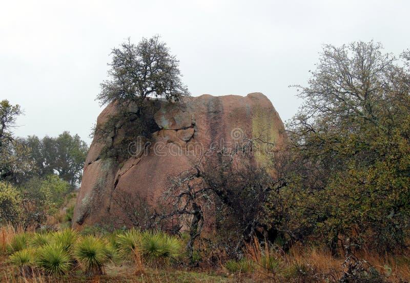 Zaczarowanego Rockowego stanu Naturalny teren w dżdżystym i mgłowym dniu obrazy royalty free