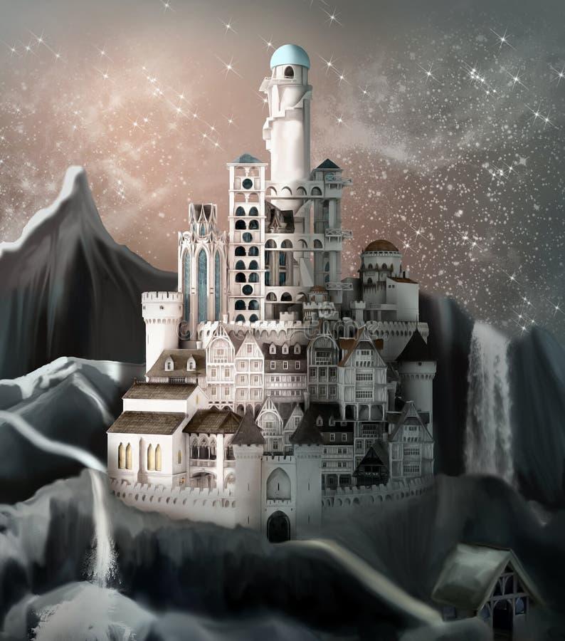 Zaczarowany fantazi królestwo ilustracji
