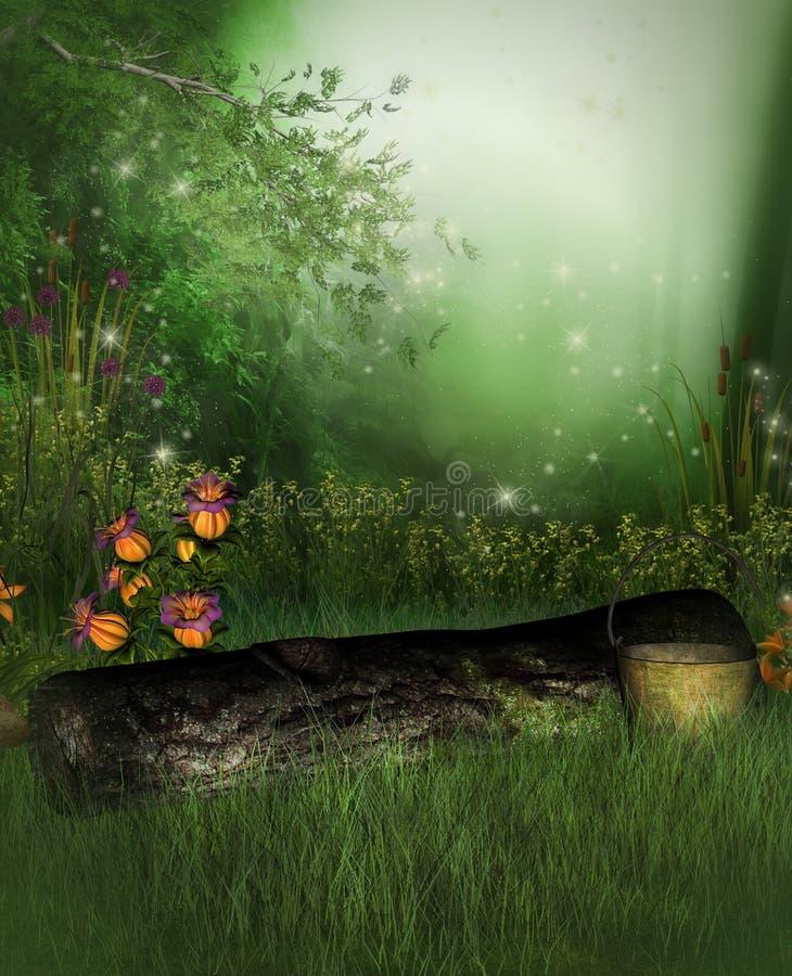 zaczarowany ogród royalty ilustracja
