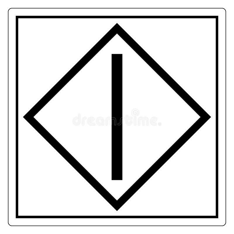 Zaczyna &-x28; action&-x29; Symbolu znak Odizolowywa Na Białym tle, Wektorowa ilustracja EPS 10 royalty ilustracja