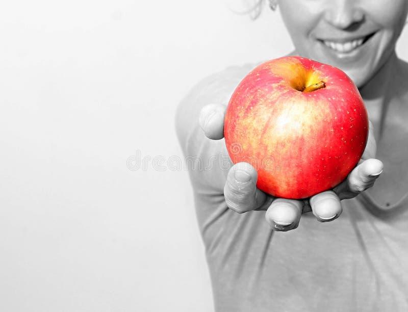 Zaczyna dieting z jabłkiem zdjęcie royalty free