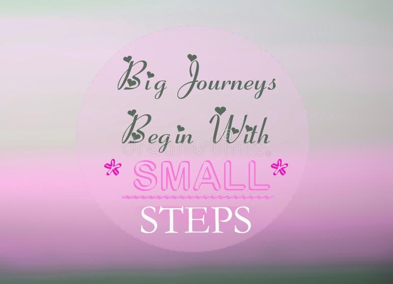 zaczyna duży podróży małych kroki ilustracja wektor