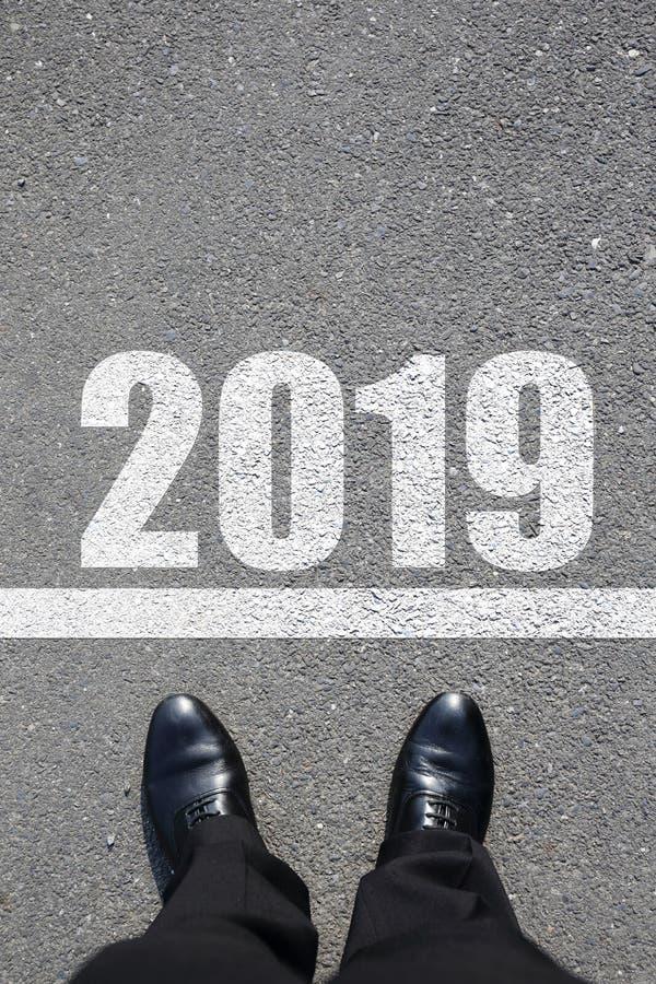 Zaczyna nowy rok 2019 zdjęcie stock