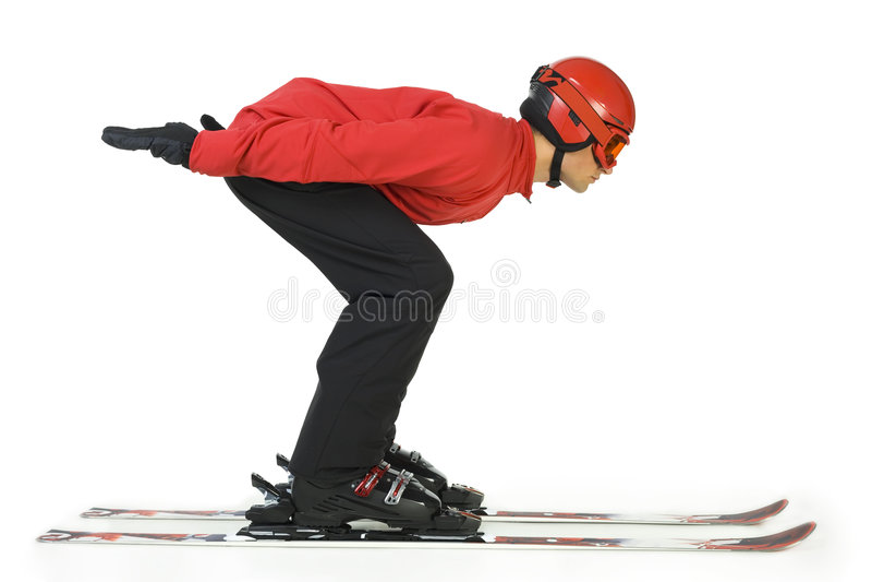 zaczyna skakać skoczków ski zdjęcia stock