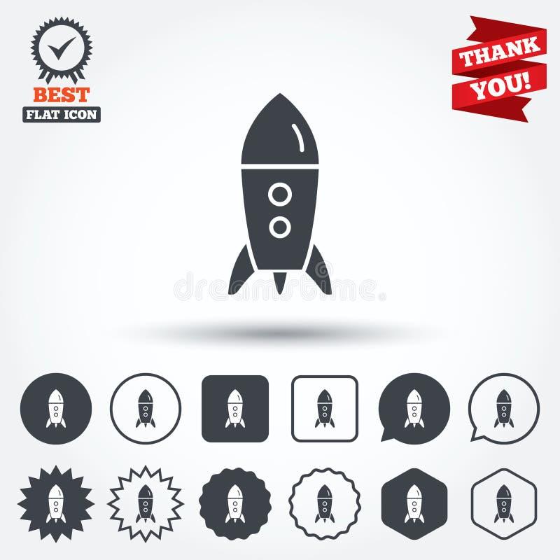 Zaczyna up ikonę Początkowy biznes rakiety znak ilustracja wektor